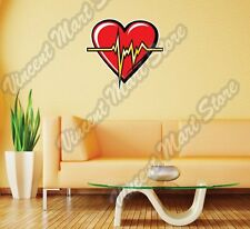 "Heart Beats Cardiology Doctor Love Gift Wall Sticker Room Interior Decor 22""X22"""