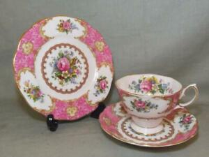 Royal Albert Lady Carlyle Trio Tea Cup Saucer & Side Plate