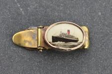 CUNARD WHITE STAR RMS SCYTHIA SHIPS SOUVENIR TIE CLIP AS BOUGHT ONBOARD 1920'S