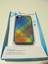 Speck SPK-A1347 Fitted Fabric Backed Multi-Color Cover For iPhone 4/4S