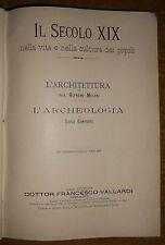 """LIBRO ANTICO TELA TITOLI  ORO""""IL SECOLO XIX"""" MELANI E CONFORTI S.D. MA DEL 1900"""