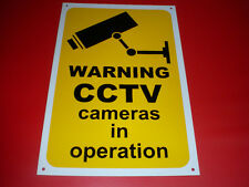 Warning CCTV Cameras In Operation Pre-Drilled Plastic Sign 300mm x 200mm