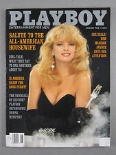 PLAYBOY August 1992 Housewives/Sex in Ads/Jerry Brown/Ross Perot/Catherine Crier