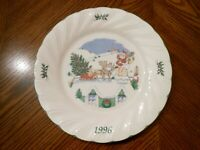 "NIB NIKKO Japan 4th Edition in The ""HOLIDAY SPIRIT"" 1996 ""HAPPY HOLIDAYS"" Plate"