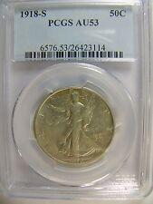 1918-S Walking Liberty Half Dollar PCGS AU 53 Cert # 26423114 REDUCED