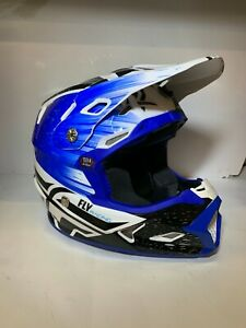 Fly Racing Youth Blue/White Toxin Helmet Size Medium