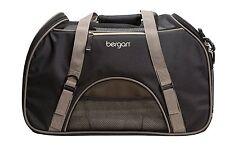 Bergan Comfort Carrier Soft Sided Pet Carrier Dog Cat Bag Tote Black Brown Large