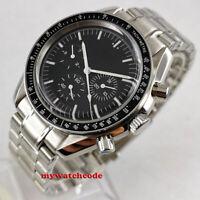 40mm bliger black sterile dial date week multifunction automatic mens watch B302