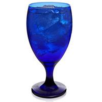 Libbey Premiere Cobalt Iced Tea Goblet Beverage Glasses, Set of 12 , Cobalt Blue
