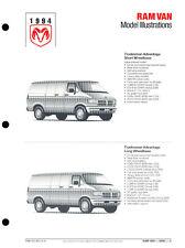 1994 Dodge Ram Van Original Car Press Guide Brochure like