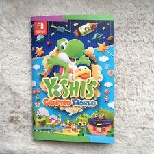 Yoshi's Crafter World Notiz Heft NINTENDO NEU Switch