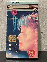 David Bowie Sony Video 45VHS Rare HTF OOP Music Collection
