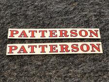 Patterson BMX screen printed repro sticker set #5 - 2 stickers!