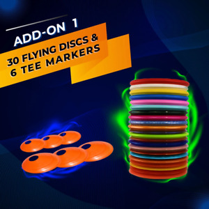 Add-On 1 - 30 Disc Golf discs and 6 tee markers