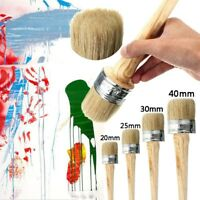 4PC BRUSHES 40 30 25 20mm PAINT BRUSHES SHABBY CHIC CHALK WAX PURE BRISTLE