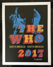 Set of 4 The Who 2017 VIP Tour Posters - Limited Edition