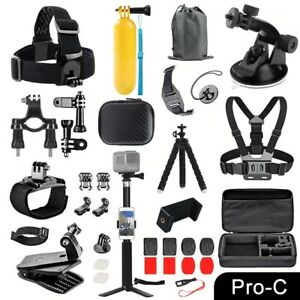 GoPro Accessories Set for Go Pro Hero 9 8 7 6 5 4 Black Mount Action Camera