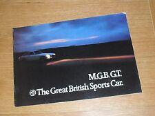 MG MGB GT Brochure 1972-1973 - Chrome Bumper Model