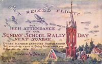 South Omaha NE~Sunday School Rally Day~Record Flight Planes~Ruth Kinsley~1914 PC