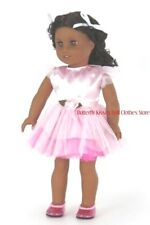 Pink Satin Tulle Rosebud Dress 18 in Doll Clothes Fits American Girl