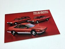 1985 Subaru GL Hardtop Sedan Wagon Hatchback Brat XT Coupe Full Line Brochure