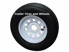 "175/80R13 LRD 8 PR RN Radial Trailer Tire on 13"" 5 Lug White Mod Wheel"