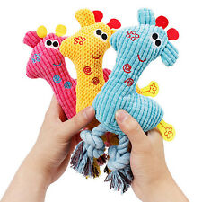 Cute Giraffe Pet Cat Dog Puppy Chew Squeaky Plush Sound fetch Training Toys