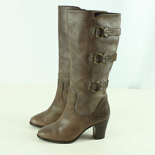 Matisse Womens Size 8.5M Leather Boots Ladies Heels Brown Harness Online