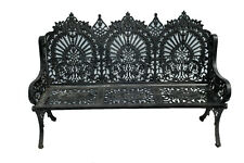 Large and Stately Victorian Inspired Cast Iron Bench Garden #10441