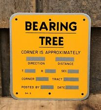 Vintage US Forest Service BEARING TREE Used Retired Metal Sign 5x4