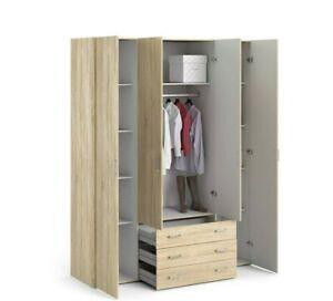 Oak Effect Wardrobe - Double,Triple, 4 Door, Plus Chest of Drawers - 3, 5 & More