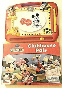 Mickey Mouse Clubhouse 22 Page Storybook & Magnetic Drawing Kit For Kids 3+