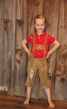 Kidstracht Kinderlederhose Kniebundlederhose hellbraun Gr. 98 -152 Volksfest neu