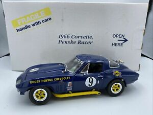 1/24 Danbury Mint 1966 Penske Chevrolet Corvette Grand Sport Sebring RARE LOOK