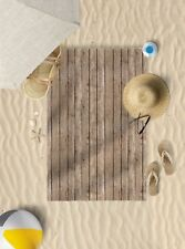 "58"" x 39"" Wood Effect Design Microfibre Beach Towel Pool Sun Bathing Towel Only"