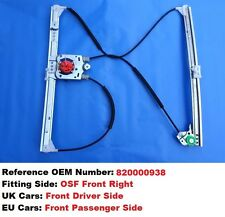 RENAULT LAGUNA 2 II WINDOW REGULATOR FRONT RIGHT *RIGHT HAND DRIVE* DRIVER SIDE