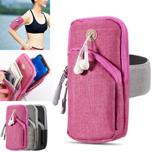 Sports Gym Running Armband Pouch Holder Zip Bag For iPhone 12/ 12 Pro / 12 mini