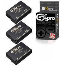 3 x Ex-Pro Battery DMW-BLD10E 1200mA for P@ L@ DMC-G3 DMC-GF2 DMC-GX1