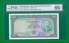 Mozambique 100 Escudos 1961 P109b (PMG 66) GEM UNC