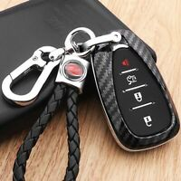 Carbon Fiber Shell Remote Key Holder Fob Case For Chevy