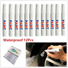 12X White Waterproof Permanent Car Tyre Tire Drawing Paint Marker Pens Drawing