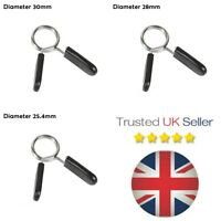 1 Pc -  Gym Barbell Weight Spring Collar Lock Clips Clip Bar Dumbbell Gym UK