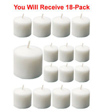 18-Pack Votive Candles Unscented White 1 3/4 x 2 in. Long Lasting Bulk Buy