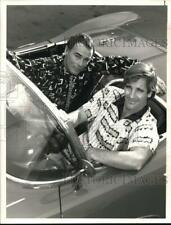 "1989 Press Photo Actors Dean Stockwell, Scott Bakula in ""Quantum Leap"" on Nbc"