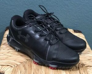 UNDER ARMOUR MEN'S SPIETH 3 GOLF SHOES SIZE: 7 BLACK/GRAY/RED