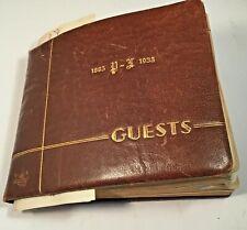 Golden Wedding Anniversary Guest Book Mr & Mrs Conrad Laska 1885-1935 Albany,NY