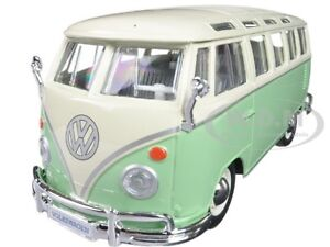 VOLKSWAGEN SAMBA BUS VAN GREEN 1:25 DIECAST MODEL CAR BY MAISTO 31956