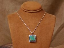 Navajo Handmade Turquoise Sterling Silver Necklace