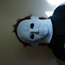 Michael Myers Horror Mask Movie Killer White Adult Full Head Latex Fancy Dress