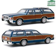 1979 Ford Wagons Ford LTD Country Squire Dark Blue 1/18 Greenlight HTF
